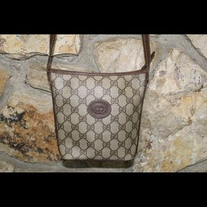 Authentic Gucci Supreme Crossbody Bag in Brown